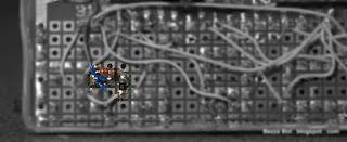 Защитный N-канальный КМОП транзистор, вид со стороны монтажа