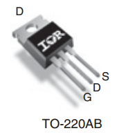 Цоколёвка МДП транзистора в корпусе TO-220AB