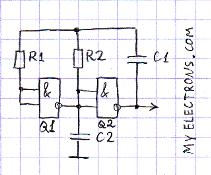 Работающий генератор на к561ла7