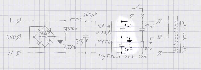 Синфазный LC фильтр