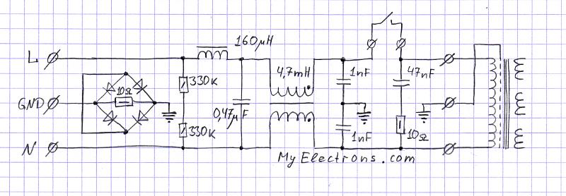 Сетевой фильтр для аудио