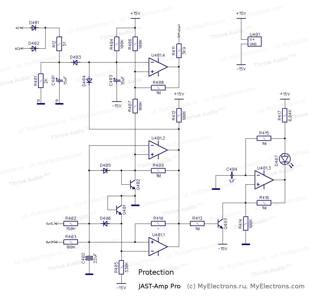 Сзема защиты и автоматики JAST-Amp Pro